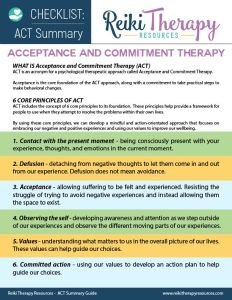 Acceptance & Commitment Principles with Reiki