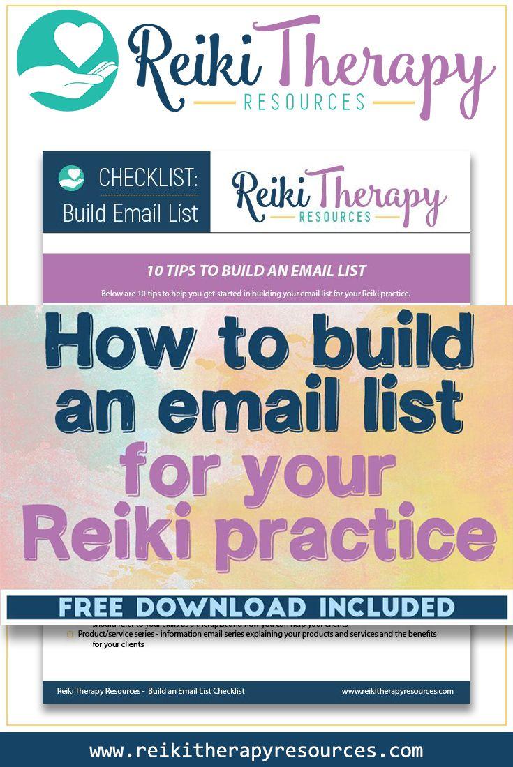 FREE Email List Checklist