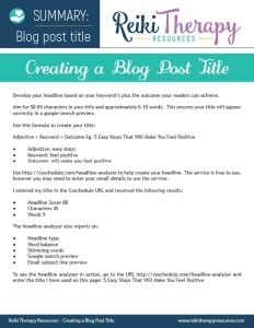Blog Post Title Guide