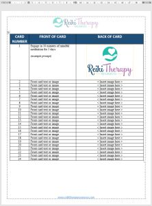 How to Create Index Cards for Your Reiki Practice