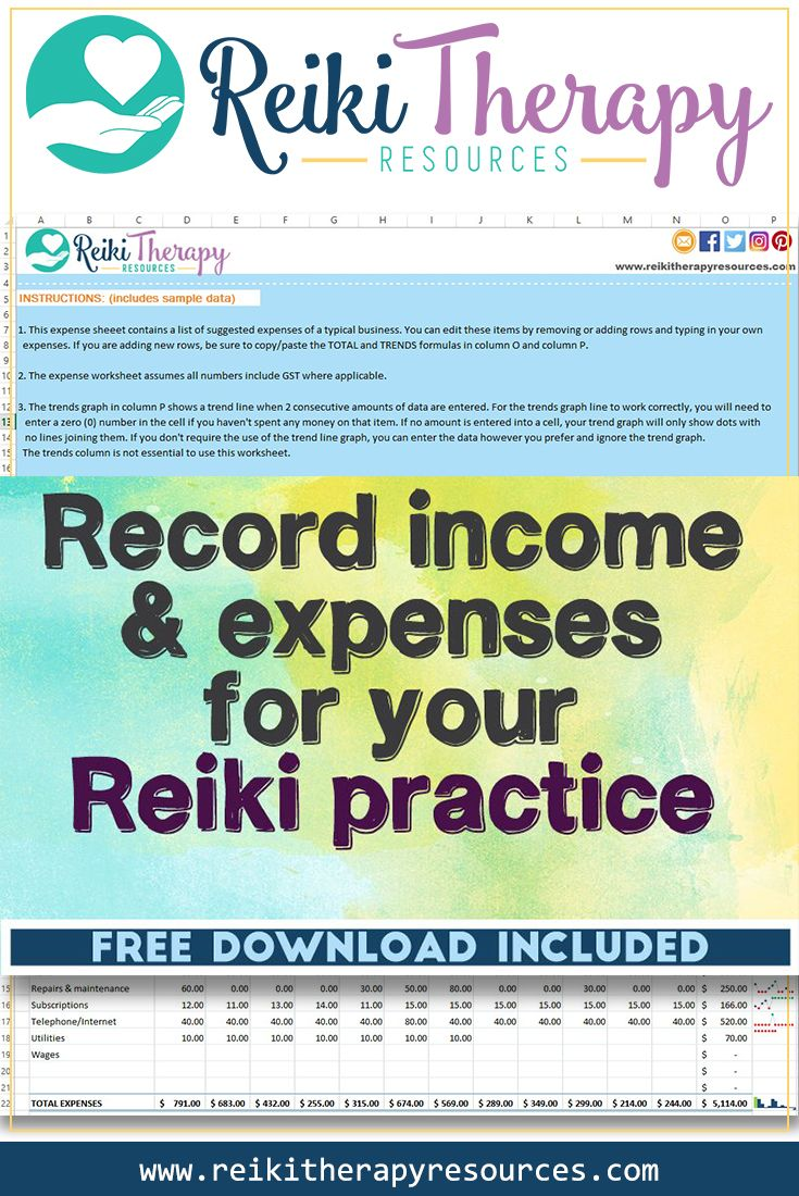 How to Record Income and Expenses for your Reiki Practice