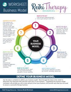 Reiki Business Model Worksheet