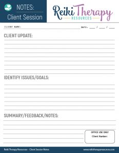 Client Reiki Session Template