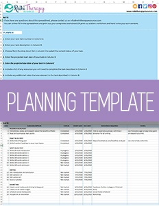 Planning Template for Your Reiki Practice