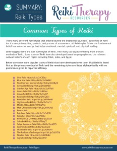 Types of Reiki Summary Guide