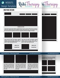 Reiki Website Layout Design